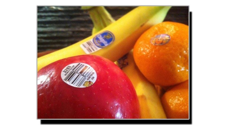 پھلوں کے اوپر لگے سٹکر بارے جانیے کچھ خاص