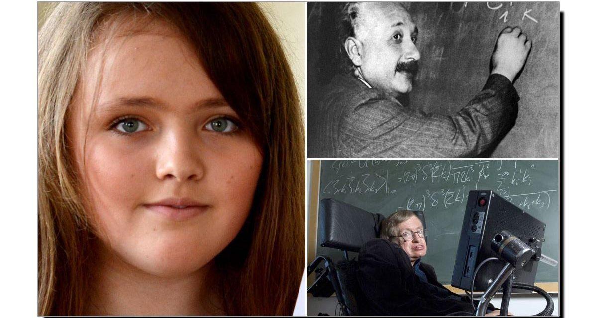 آئن سٹائن اور سٹیفن ہاکنگ سے زیادہ IQ رکھنے والی لڑکی