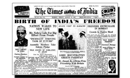 تین نومبر، جب ٹائمز آف انڈیا جاری ہوا