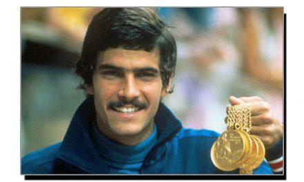 امریکی اولمپک چمپئن کا روسی کوچ کے ساتھ عجیب و غریب مذاق