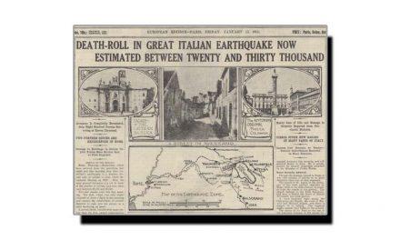 تیرہ جنوری، اٹلی کی تاریخ میں بدترین زلزلہ کا دن