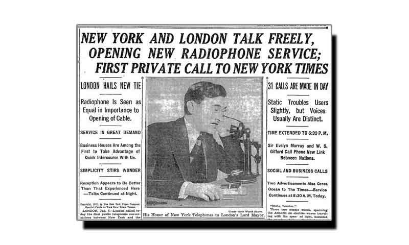 سات جنوری، ٹیلی فون سروس کی دنیا میں انقلاب