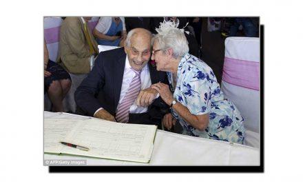 یہ ہے دنیا کا معمر ترین شادی کا جوڑا