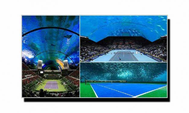 یہ ہے دنیا کا پہلا زیرِ آب ٹینس سٹیڈیم