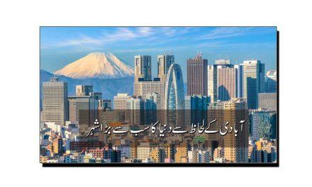 آبادی کے لحاظ سے دنیا کا سب سے بڑا شہر