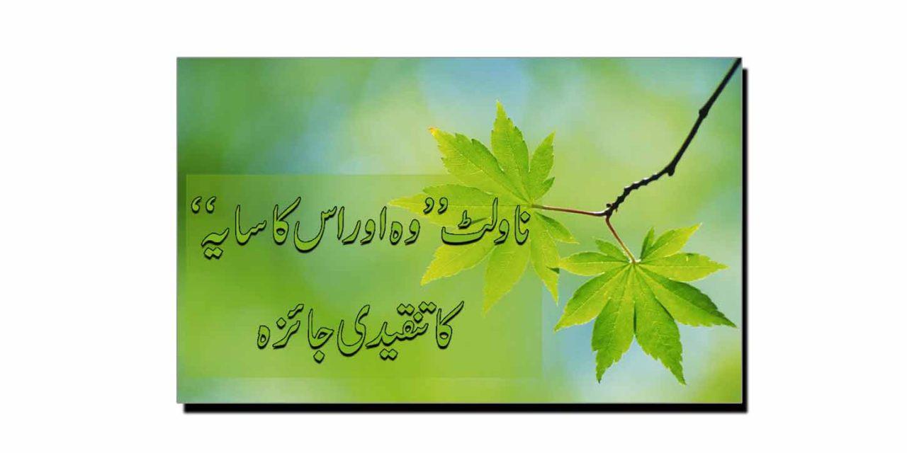 شوکت صدیقی کے ناولٹ ''وہ اور اس کا سایہ'' کا تنقیدی جائزہ